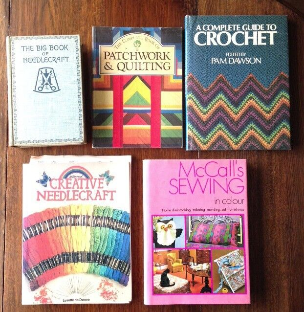 Various needlework books in good condition