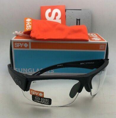 New SPY OPTIC Safety Glasses SPRINTER Matte Black Frame w/ Clear ANSI (Spy Safety Glasses)