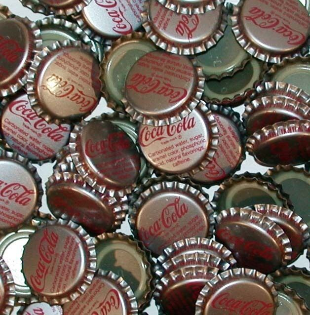Soda pop bottle caps Lot of 25 COCA COLA Tullahoma Tenn plastic new old stock