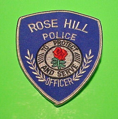 "ROSE HILL  IOWA  IA  ( RED ROSE ) 4 3/4""  POLICE PATCH  FREE SHIPPING!!!"