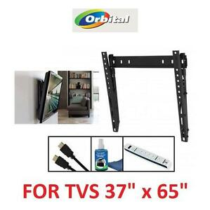 "NEW ORBITAL TV WALL MOUNT KIT 37"" - 65"" - COMES W/ 2 10' HDMI WIRES, SCREEN CLEANER AND SURGE PROTECTOR 107617739"