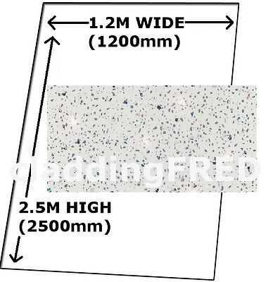 CLADDING 2  WHITE SPARKLE SHOWER BATHROOM WALL BOARDS  SPLASHPANEL TOUGH PANELS