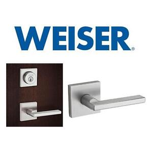 NEW WEISER PASSAGE DOOR HANDLE - 123327304 - HALIFAX SATIN CHROME