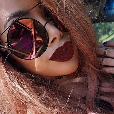 Oversized HUGE Technologic XXL Round Flat T Aviator BOHO Fashion Sunglasses (Huge Aviator Sunglasses)