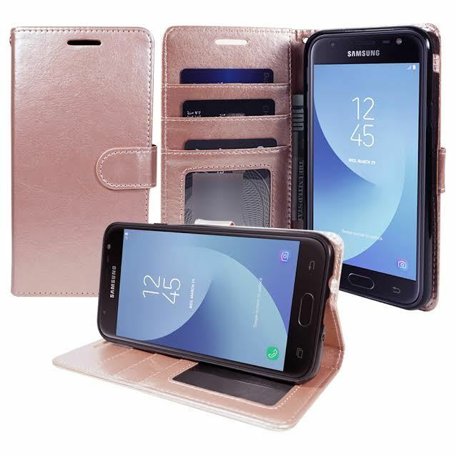 For Samsung Galaxy J7 V J7 Prime Sky Pro Perx Halo Leather Wallet Case Cover