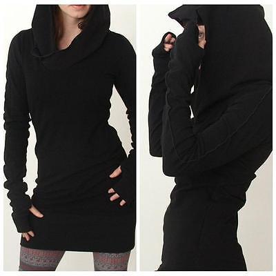Women Hooded Sweatshirts Hoodies Slim Fit Coat Mini Dress Pullover Plus Size