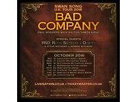 BAD COMPANY LIVE!!! 1 X TICKET GLASGOW 25TH OCTOBER - WITH SPECIAL GUESTS RICHIE SAMBORA