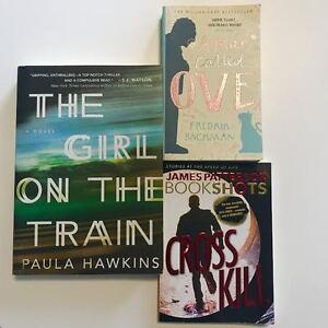 "$5 A BOOK, 1 YEAR OLD NOVELS ""OVE"" ""CROSSKILL"" ""GIRL ON TRAIN"""