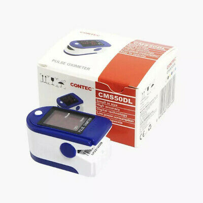 Finger Pulse Oximeter Blood Oxygen Spo2 Monitor Contec Cms50dl New High Accuracy