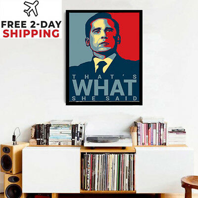 The Office Series Mihael Scott Wall Poster Quote TV Witht Frame 18-12 Xmas Gift  ()