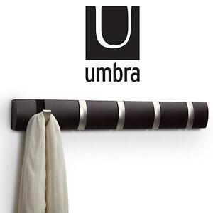 NEW UMBRA 5-HOOK WALL-MOUNT RACK - 110820683 - CLOTHING RACK - ESPRESSO - HOME ORGANIZATION