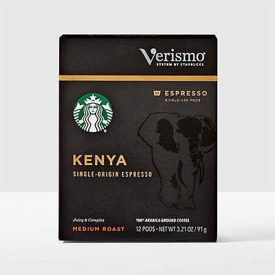Starbucks Kenya Espresso Roast Coffee Verismo 144 count **read description**
