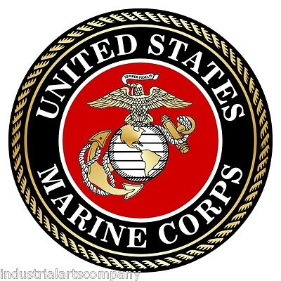 UNITED STATES MARINE CORPS Military Decal Car Window Sticker Semper Fi Marines