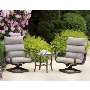 NEW 3PC REGENCY PORCH SET 1031560 188244762 PATIO SWIVEL ROCKING CHAIRS TABLE PATIO FURNITURE