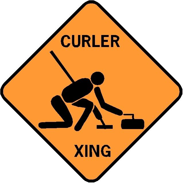 CURLER XING  Aluminum Curling Sign  Won