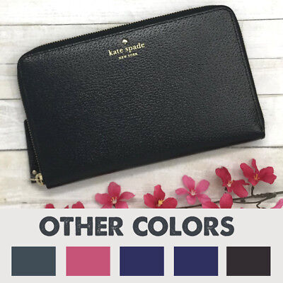NWT Kate Spade Leather Grand Street Travel Passport Wallet Purse Clutch MSRP$248