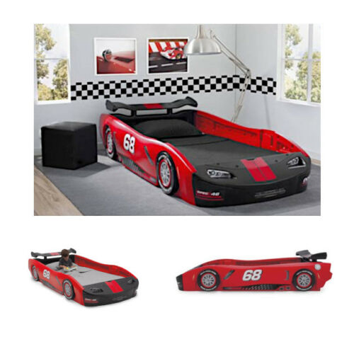 Car Bed Turbo Race Twin Delta Boys Children Bedroom Kids Bed