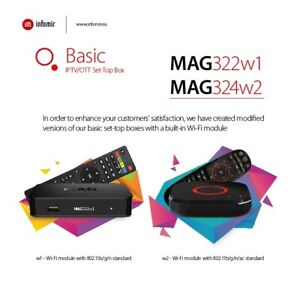 ---SALE--- MAG 324W2 / MAG 322W1 WITH 1 MONTH IPTV SERVICE