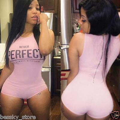 Sexy Women Bodysuit Sleeveless Clubwear Jumpsuit Rompers Playsuit Short Pants