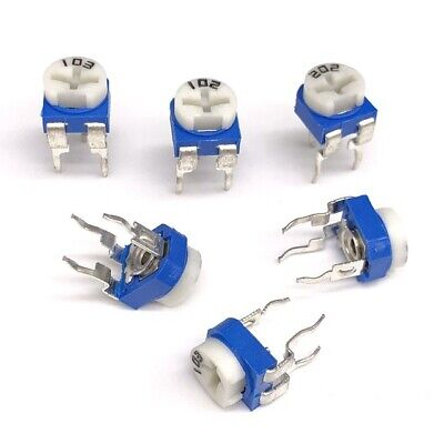 50pcs 10k Ohm Rm065 103 Trimpot Trimmer Potentiometer Adjustable Resistance