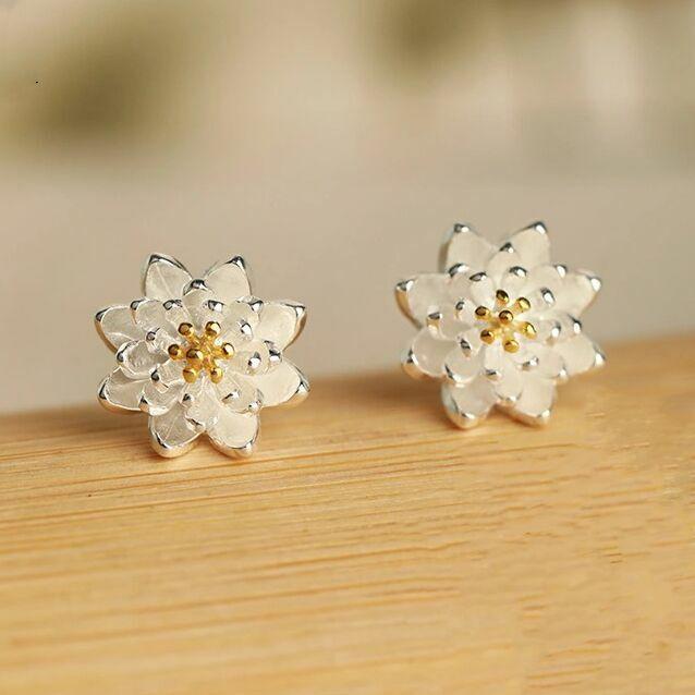 Jewellery - Women Girls 925 Sterling Silver Lovely Flower Stud Earrings Jewellery Gift UK