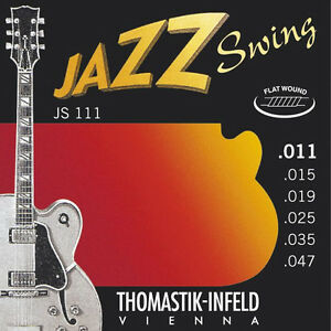 Thomastik Infeld JS111 Light Jazz Swing Electric Guitar Strings 11-47 flatwound