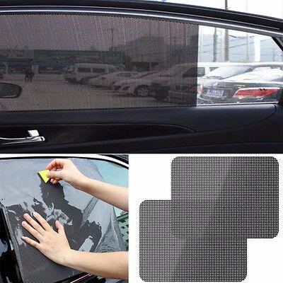 2Pcs Car Rear Window Side Sun Shade Cover Block Static Cling Visor Shield mtY
