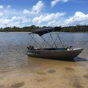 Clarke Cutter Tinny 20HP Yamaha Floor Bimini Cover Fish finder Canungra Ipswich South Preview