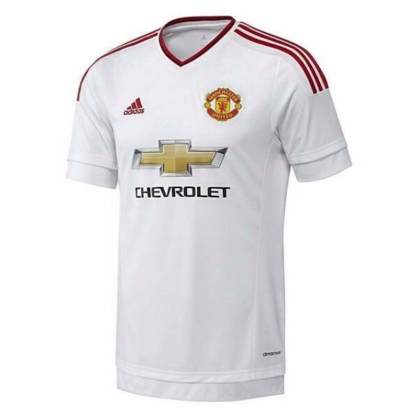 Adidas Climacool Mens Manchester United FC 2015/2016 Away Jersey - White & Red (Size L) (BNWT)