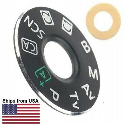 Mode Dial + Adhesive Repair Part for Canon EOS 70D Top Cover, US Ship/Tracking