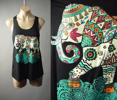 India Thai Elephant Henna Tattoo Graphic Yogi Yoga Tank Top 183 mv Shirt S M L