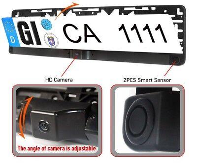 Einparkhilfe Kennzeichen Nummernschild Rückfahrkamera mit Monitor Funk kabellos