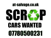 Scrap my car £100+ hertfordshire scrap a van same day Collection at-salvage