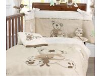 Babies r us cot bed quilt, bumpers and curtains