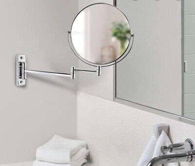 Better Living Cosmo 8 Inch Wall Mount Vanity Magnifying Makeup Mirror,