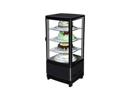 Marchia Mdc78b 39 Vertical Countertop Refrigerated Glass Display Case Black