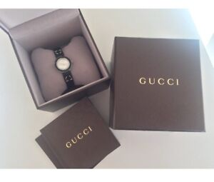 Authentic Gucci Swiss leather watch