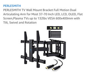 """Pearlsmith Full Motion TV Wall amount 37""""-70""""- BRAND NEW in box"""