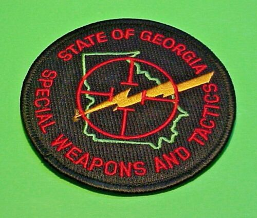 """GEORGIA SWAT SPECIAL WEAPONS AND TACTICS  3 1/2""""  POLICE PATCH  FREE SHIPPING!!!"""