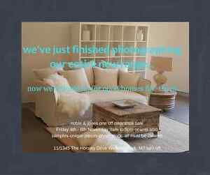 Design Sofa Maker Showroom Clearance all 1/2 Price 4-6th November Wetherill Park Fairfield Area Preview