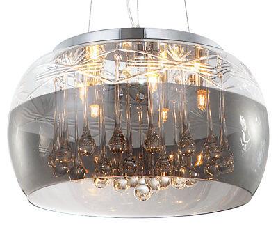 Ø40cm Kristall Deckenleuchte Pendelleuchte Hängeleuchte Deckenlampe Kronleuchter (Kristall-pendelleuchte)