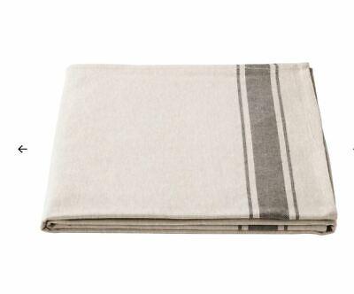 IKEA VARDAGEN Tablecloth, beige NATURAL LINEN & COTTON 145 x 240 cm UK-BMC ()