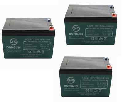 3 of 6-DZM-12 6DZM12 Battery for Electric Scooter Bicycle E-bike Kid ATV Go kart