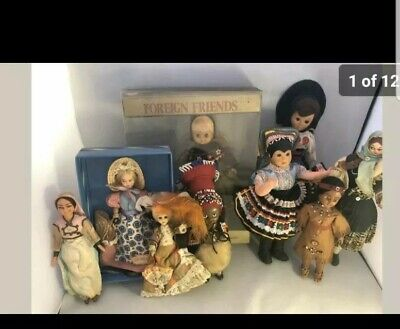 Collection of Vintage Foreign Dolls in good condition