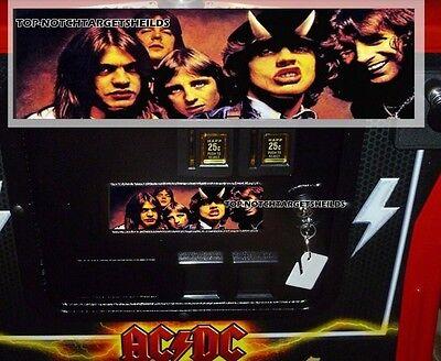 STERN AC/DC PINBALL COIN DOOR DECAL