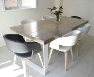 Industrial Steel Leg Tables - Your size, style, & colour!