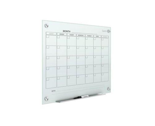 "Quartet Infinity Magnetic Glass Dry Erase Calendar Board 24"" X 18"" GC2418F"