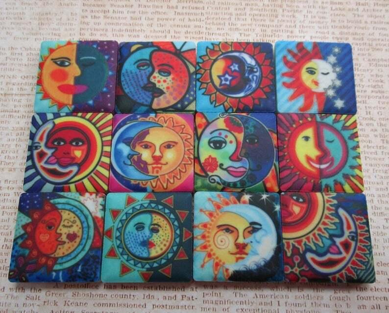 ceramic mosaic tiles 12 piece mixed set