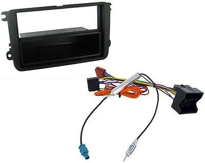 VW Golf Mk6 09-12 Single Din Car Stereo Fitting Kit Facia ISO Aerial