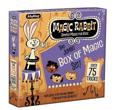 Jumbo BOX OF MAGIC 75 Trick Set Show Wand Card Learn Beginner Kit Kids 6+